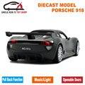 15 см 1:32 Литья Под Давлением Модели 918 911 SPYDER Реплики, Kid Toys, Car With Pull Back Function/Музыка/Свет/Открывающиеся Двери, Как Подарок Для Детей