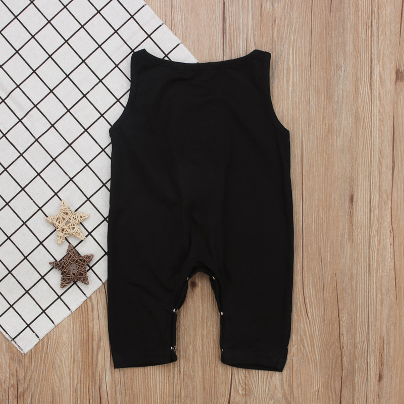 New 2018 Black Baby Infant Summer Rompers Baby Jumpsuit Toddler Outfits Baby Girl Onesie Girl Summer Clothes Costume