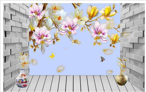 Wallpaper color brick magnolia 3D wallpaper mural wall paper papel de parede stickers wallpaper20151042 - China-3d CO.,LTD. store