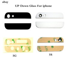 Back Cover Glass For iPhone 5 5S SE Rear Housing Assemble Housing Top Bottom up down