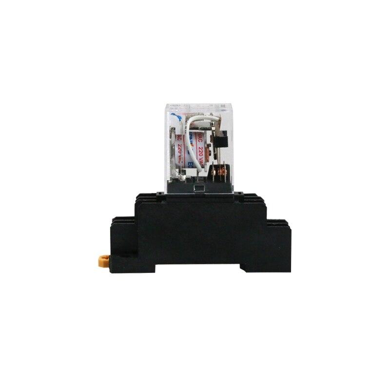2pcs MY4NJ HH54P MY4N-J relay 12V AC coil high quality general purpose DPDT micro mini relay with socket base holder батут nj 12 48d