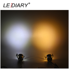 LEDIARY 1-6Pcs/Set Mini LED Downlight Dimmable 1.5W 85-265V Remote Controller Silvery Cabinet Spot Lamp 27mm Cut Hole Recessed