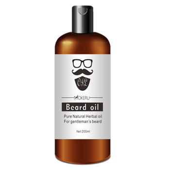 1pc 200ml Mokeru Pure Organic Beard Oil Natural Beard Growth Oil Moisturizing Smoothing Care Beard Balm For Men 1