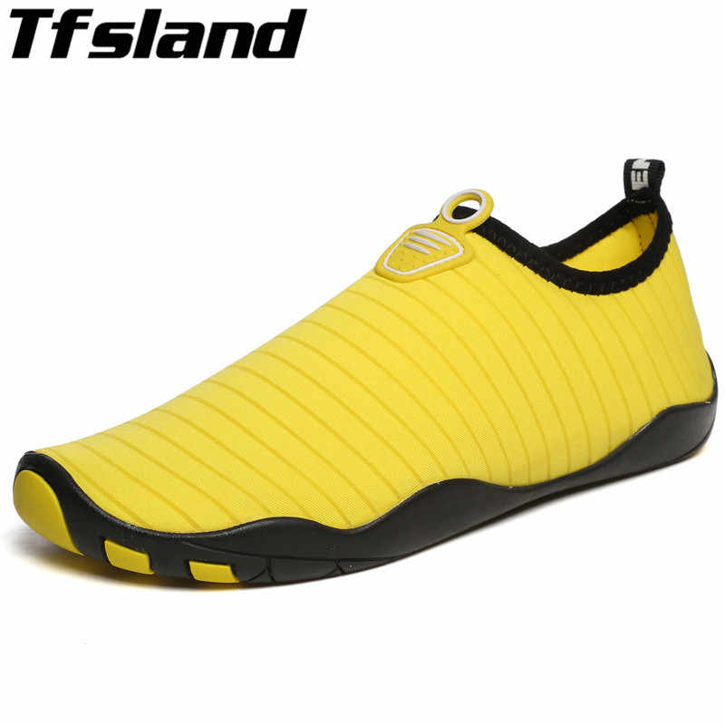 New Summer Men Women Breathable Beach Sandals Quick-drying Water Wading Shoes Outdoor Soft Yoga Shoes Mesh Aqua Shoes Sneakers