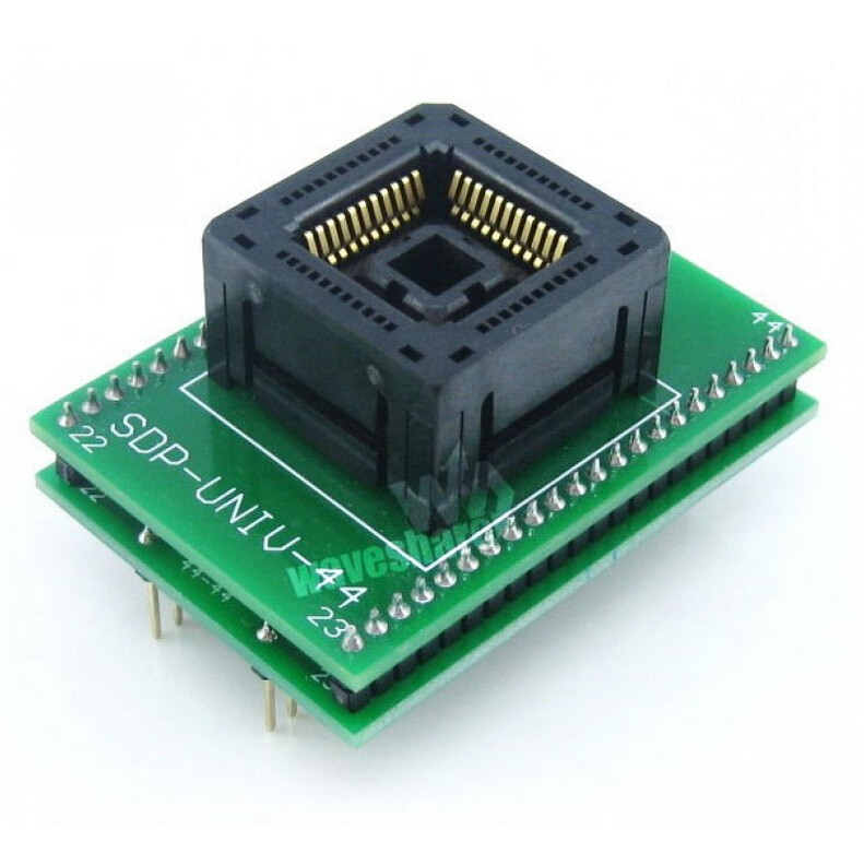 ФОТО PLCC44 TO DIP44 # 1.27mm Pitch Yamaichi IC Programming Socket Adapter for PLCC44 + Free Shipping