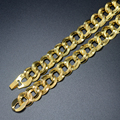 50cm/20inch Gold Chain For Men - Gold Plated new Fashion Wholesale 2 Size Thick Necklace Men Jewelry Cuban/Egypt/African Item