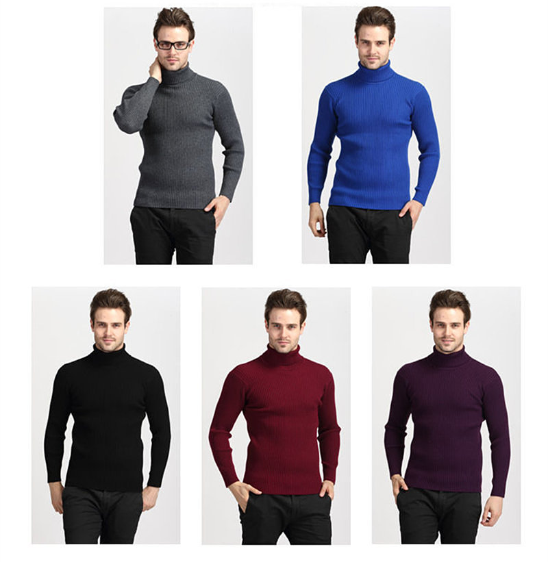 COODRONY Winter Thick Warm Cashmere Sweater Men Turtleneck Mens Sweaters Slim Fit Pullover Men Classic Wool Knitwear Pull Homme 2