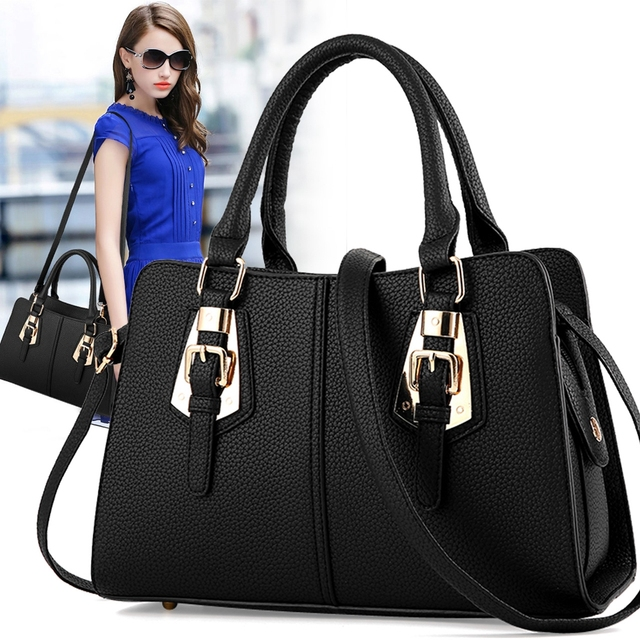 f5c463aeae61 Hot sale 2018 Fashion Designer Brand Women Leather Handbags ladies Shoulder  bags tote Bag female Retro Vintage Messenger Bag