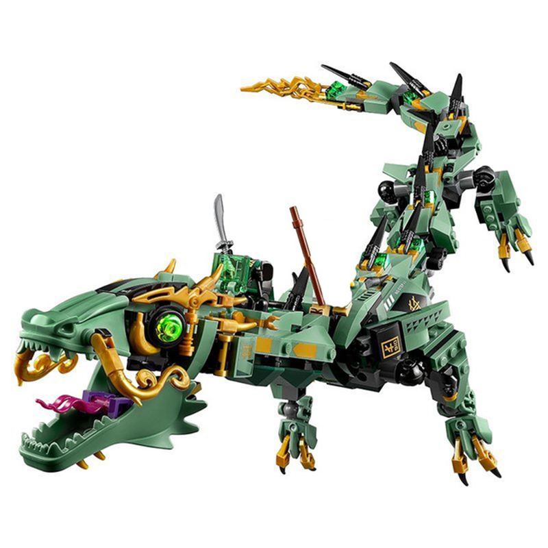 Lepin 06051 Ninja Movie Series Flying Mecha Dragon Building Blocks Bricks Toys Children Gifts LegoINGly Toys NinjagoINGly Blocks bevle store lepin 07045 501pcs with original box movie series robin chariot building blocks bricks for children toys 70905