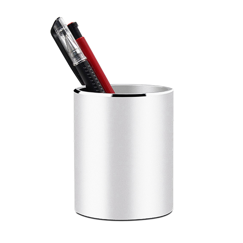 High Quality Pen Holder Office Organizer Round Aluminium Alloy Cosmetic Pencil Pen Holders Stationery Container Office SuppliesHigh Quality Pen Holder Office Organizer Round Aluminium Alloy Cosmetic Pencil Pen Holders Stationery Container Office Supplies