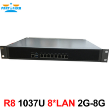 Partaker R8 Network firewall appliance 1037U 8* 82583V LAN U Rackmount Server, pfsense firewall Router Pfsense for Internet cafe