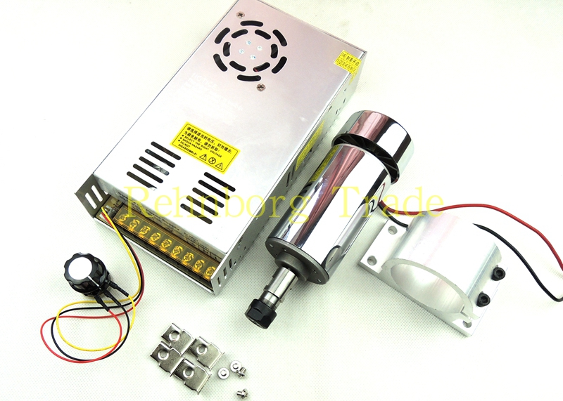 DC12-48V 0.3kw spindle motor ER11 chuck CNC 300W Spindle Motor + 52mm mount bracket + Power Supply speed governor For DIY CNC o hara amorous nightmares of delay