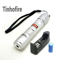 Laser 619 Silver 300mW Green Laser Pointer Pen 2x 16340 1200mah Battery Charger