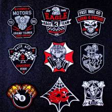 Motorcycle Biker Patch Embroidered Patches For Clothing Knights Templar Seal Badge Iron On Clothes Stripe DIY