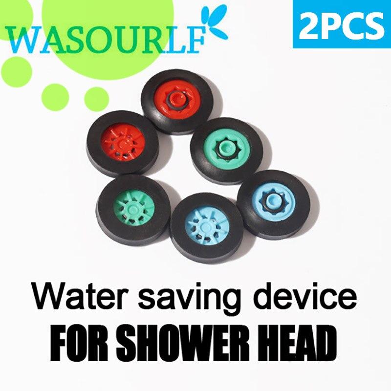 WASOURLF 2 PCS Water Saving Device Regulator 4L 5L 6L 8L Aerator For Shower Head Faucet Head Connect Hose Bathroom Pipe Bubbler