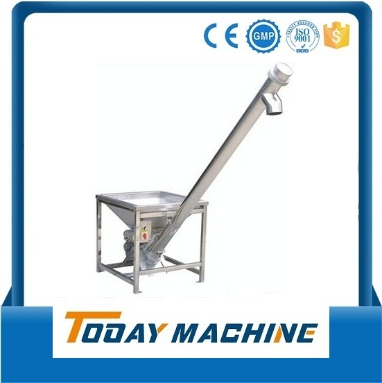 Stainless Steel Inclined Screw Feeder With Hopper Loader/ Screw Conveyor With Hopper Relay  цены