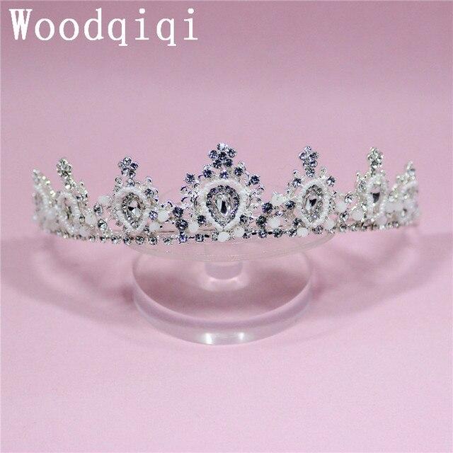 Woodqiqi crystal tiara bridal crown tiaras e coroas diademas para ...