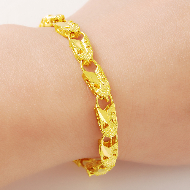 Hot sale 2015 24K Gold Colou Bracelets Romantic Designed For Women