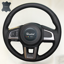 Luxury Hand Sewing Anti-slip Breathable Nappa Leather Stitch Auto  Steering Wheel Cover for Subaru outback car styling