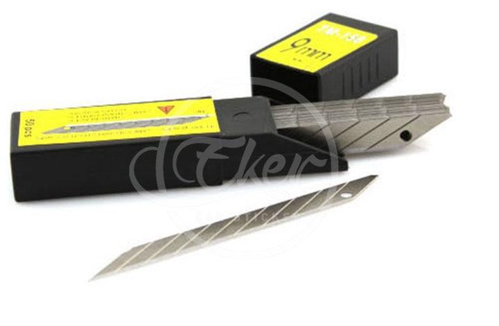 Prix pour 50 pcs lames 30 degrés métal en acier au carbone utilitaire sécable sharp voiture wrap lame de remplacement de couteau 9mm 50 pcs lame/pack
