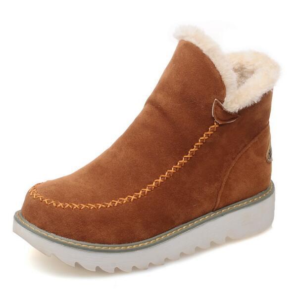 Chaussure Femme Kama Kış Ayakkabı Kadın Kadın Platformu Topuklu Moda Kızlar Bayanlar Ayak Bileği Kar Botları Sapato Feminino G61262