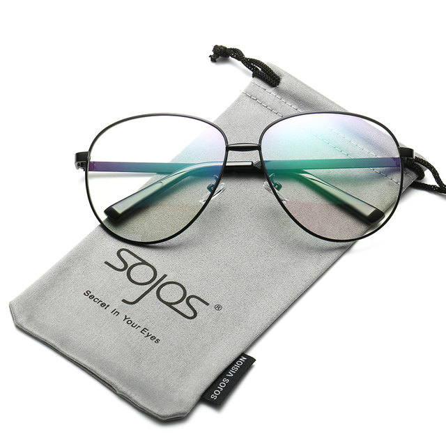 7d65abc76db SojoS Brand New Fashion Vintage Decoration Optica Eyewear Aviator Clear  Lens Metal Frame Men Women Glasses Eyeglasses 5004