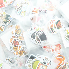 34 pcs/lot South Korea stationery sticker paper cute emoticons cat stickers package daily Mori cartoon delicious food