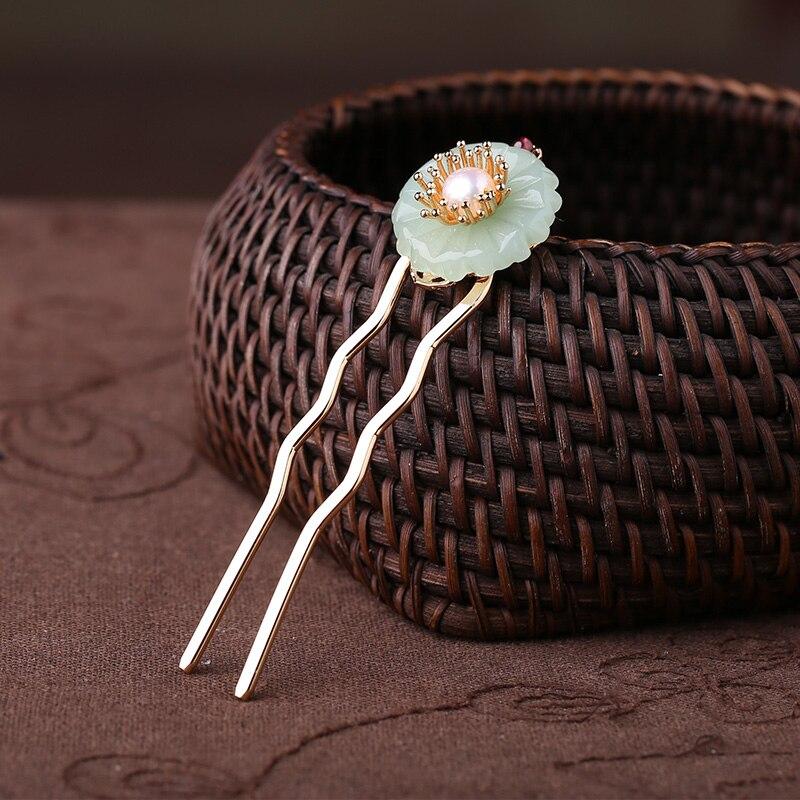 U-em forma antiga estilo chinês hairpin fêmea cabelo tiara ornamentos antigos palácio clássico grampos acessórios para o cabelo