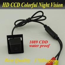 Promotion CCD voiture caméra de recul voiture vue arrière caméra pour Ssangyong nouveau Actyon Korando étanche version nuit livraison gratuite
