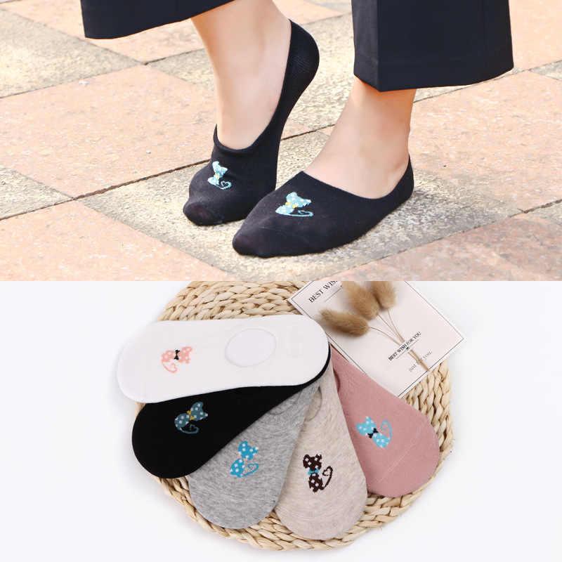 Katoen vrouwen lage ankle boot sokken onzichtbare silicon gel slipper meisje jongen kousen 1 paar = 2 stuks ws162