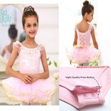 High Quality Girls Dresses Pink Black Cotton Princess Dress Kids Kanak-kanak Fluffy Gymnastics Ballet Tutu Dress