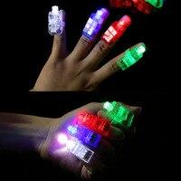 TAOS 100 шт. смешанные Shell Цвет светодиодный палец белый фонарик свет лампы игрушка для вечеринки, дня рождения Хэллоуин Рождество концерт укра...