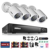 ANNKE 4CH Full 1080P Surveillance 4 In 1TVI DVR 4pcs 2 0MP Outdoor Fixed Night Vision