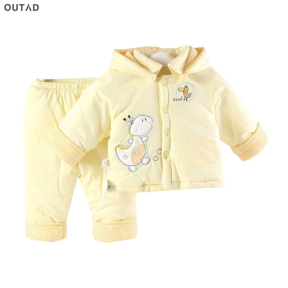 Baby Clothing Sets Comfortable Autumn Winter Warm Thickening Cotton Padded Baby Clothes And Pants Suit For Newborn Baby Hot Sale