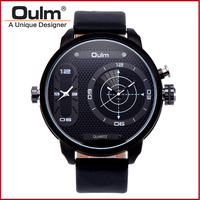 Oulm Kuvars Bilek İzle 3221B Moda Yeni Ordu Askeri Spor Oulm Erkek saati Hediye Marka Reloj Relogio Masculino