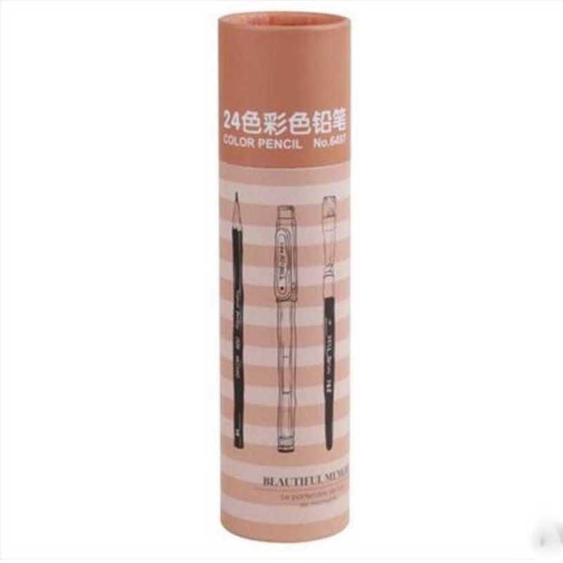 Electrónico paquete triangular lápiz de dibujo lápiz de color película de protección del medio ambiente 12 color de registro lapis de cor faber castell/F16037