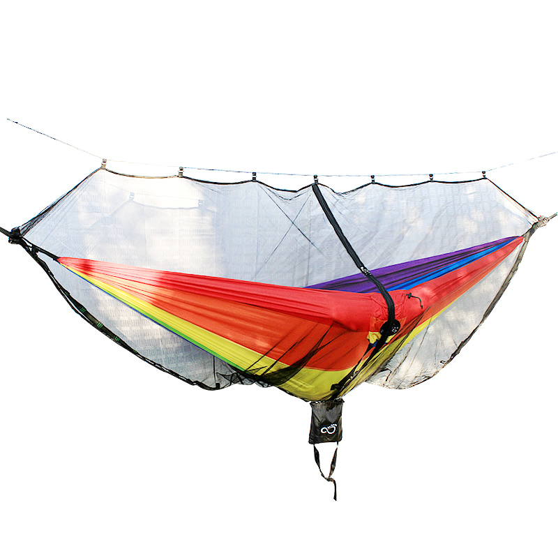 Outdoor Mosquito Net Parachute Hammock For Camping Travel 1-2 Person Hanging Bed Chair Enjoydeal Portable High Strength Hammock недорого