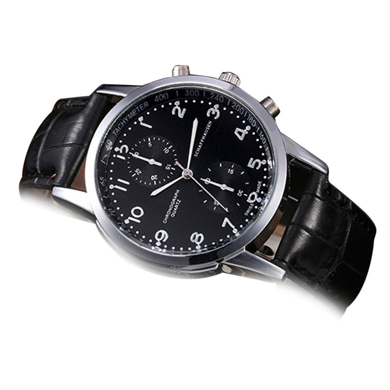 Watches For Men New Leather Stainless Steel Dial Quartz Wrist Watch Horloges Mannen Relojes Para Hombre Relogios Masculino