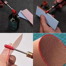 Латунная головка DIY кожа обработка края роликовая ручка сандаловое дерево край масло ручка DIY кожевенное ремесло аксессуары инструменты