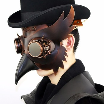 Feminine Plague Doctor Mask Masquerade Halloween Women Mask Bubonic Medieval