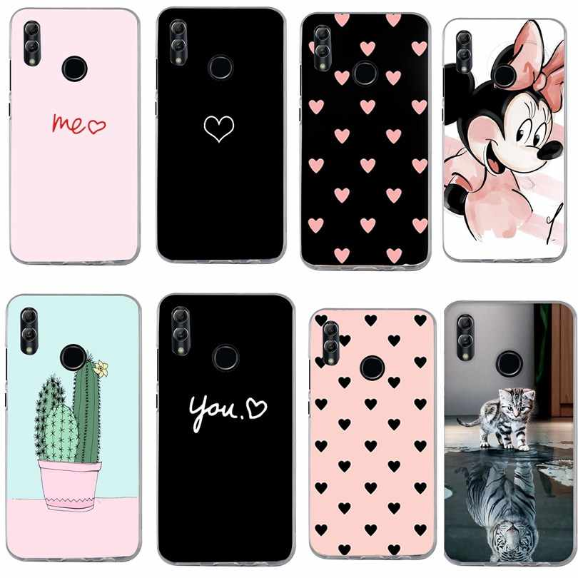 For Huawei P Smart 2019 Case Love Heart Print Cover For Honor 7A Y6 2018 P20 Pro P9 Lite 2018 P20 Lite Case Phone Bag capinha