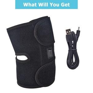 Image 4 - תמיכת ברך Brace קרח חבילת רצועות אינפרא אדום מחומם הברך לעיסוי לעטוף קר טיפול עבור כאב פציעות קרסול כאבי מפרקים הקלה