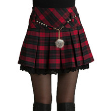 Модная осенне-зимняя женская юбка Весенняя Сексуальная короткая серая/красная мини-юбка плиссе клетчатая Женская юбка Faldas Saia