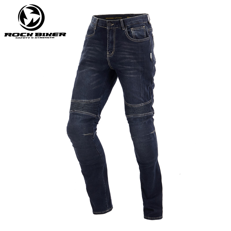 цена на ROCK BIKER Vintage Summer Motorcycle Trousers Men Racing Moto Sports Pants Equipamento de Motocross Motorcycle Jeans