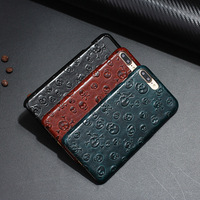 TAOZHULI 018 Luxury Fashion Skull Genuine Leather Fundas Coque Case For IPhone 6 7 6s Plus