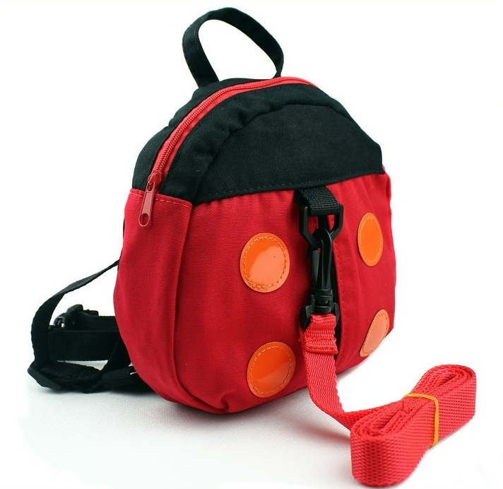 2017Anti-Lost Baby Ladybug Bat bag Child Lock Anti-Lost Band Can Be Turned Bag Satchel Toddler Belt Watches Kid Safety Nappy Bag