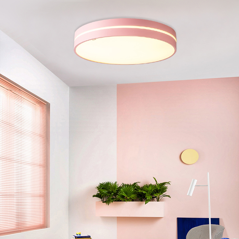 HA CONDOTTO l'illuminazione del soffitto Nordic macarons Dimmerabile luce camera da letto moderna lampada della stanza dei bambini in Acrilico AC90 260 luminaria spedizione gratuita - 3