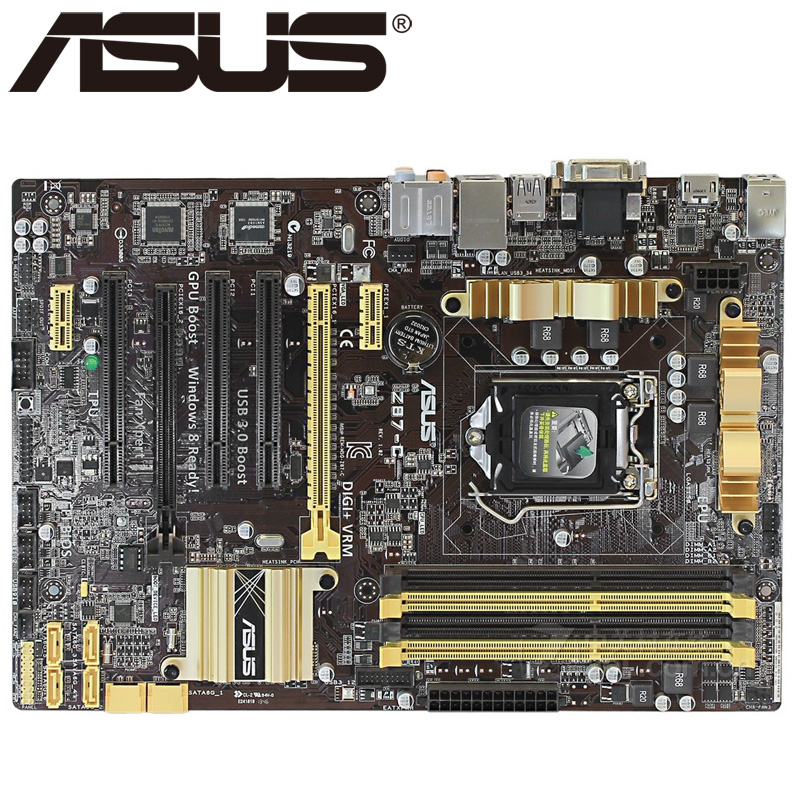 Asus Z87-C Desktop Motherboard Z87 Socket LGA 1150 i3 i5 i7 DDR3 32G ATX UEFI BIOS Original Used Mainboard Hot Sale asus p5ql cm desktop motherboard g43 socket lga 775 q8200 q8300 ddr2 8g u atx uefi bios original used mainboard on sale
