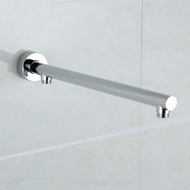 Wall Mounted Brass Round Shower Arm Extension Arm Bottom Entry ...