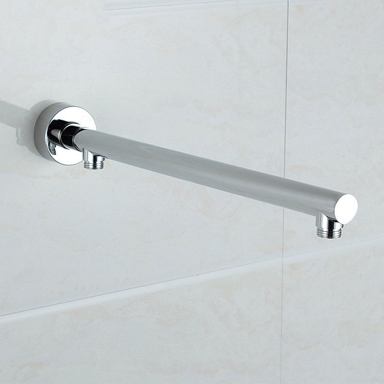 wall mounted brass round shower arm extension arm bottom entry hose for rainfall shower head
